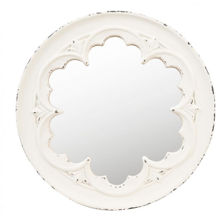 Spiegel weißer Rahmen Ø 50x4 cm