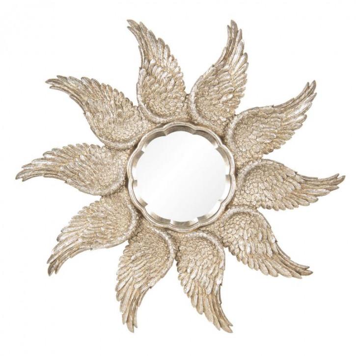 Spiegel mit Flügelrand Ø 45x3 cm