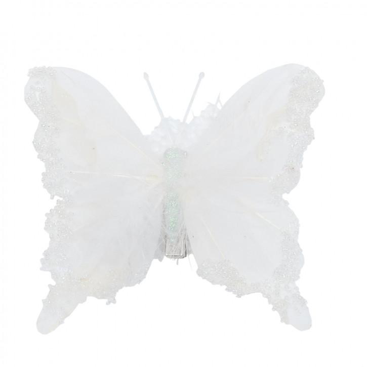Büroklammer Schmetterling 3er Set weiß ca. 12 cm