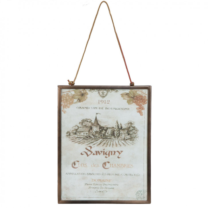 Anhänger Textschild Schild 1912 Savigny ca. 28 x 1 x 37 cm