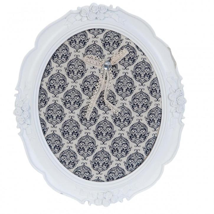 Memoboard Rahmen weiß ca. 25 x 2 x 30 cm