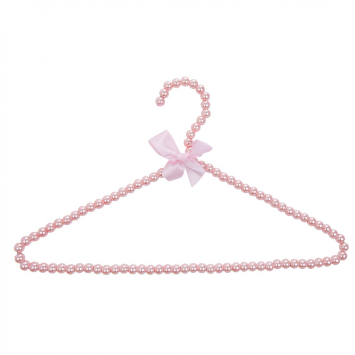 Kleiderbügel Perlen rosa ca. 39 x 1 x 23 cm