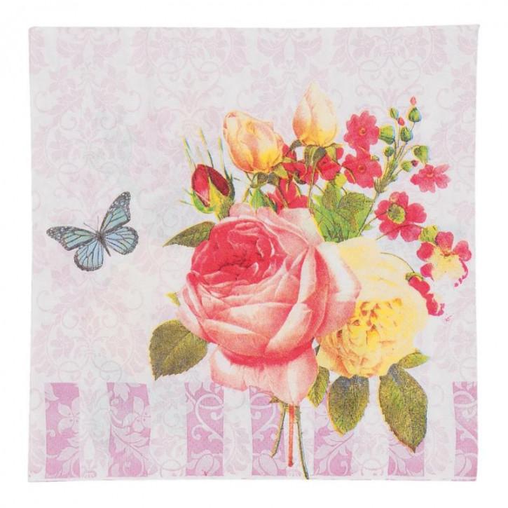 Papierservietten Schmetterling (20) ca. 33 x 33 cm