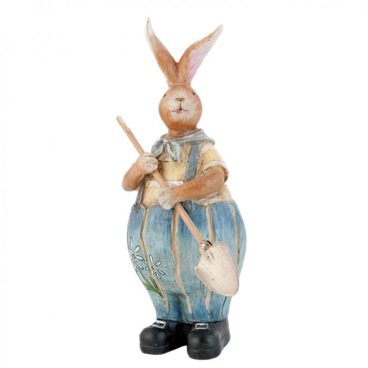 Figur Hase Schaufel Hose blau ca. 23 cm