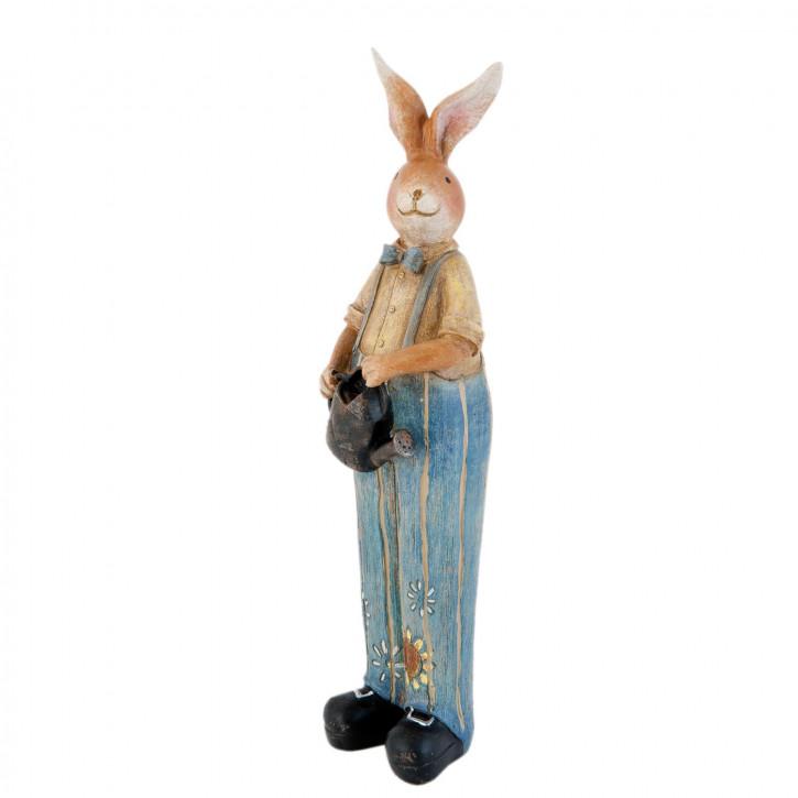 Figur Hase Hose blau ca. 29 cm
