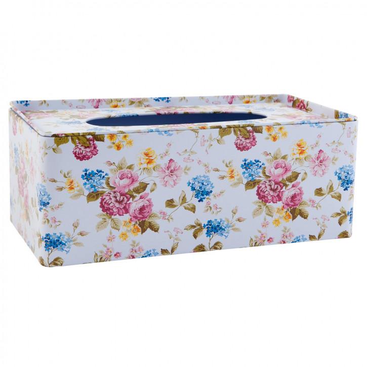 Kosmetiktücherbox geblümt ca. 25 x 13 x 9 cm