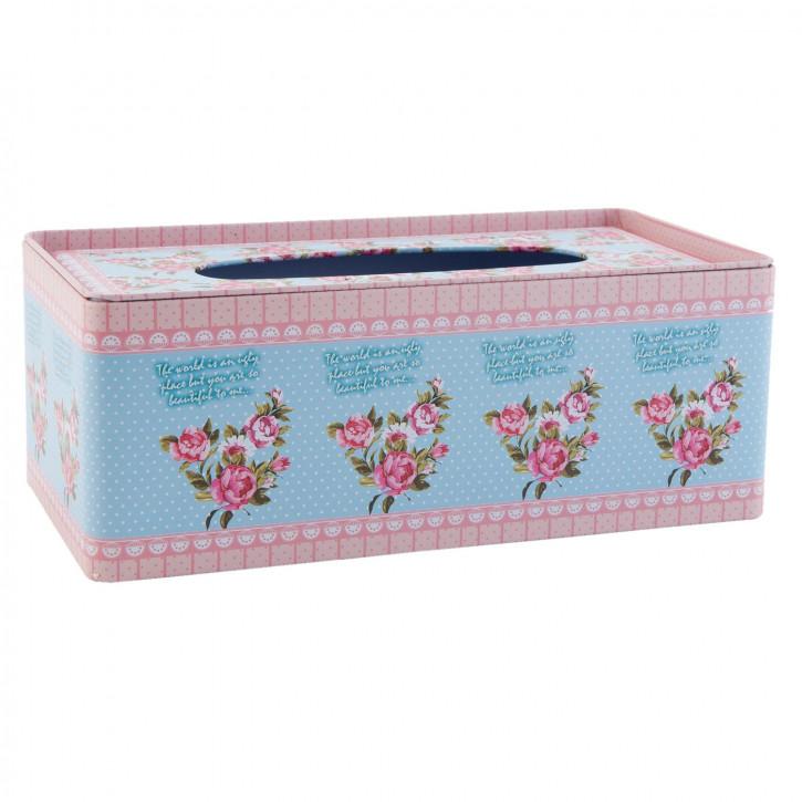 Kosmetiktücherbox Blumen ca. 25 x 13 x 9 cm