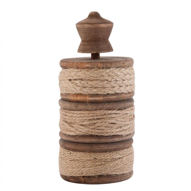 Seilhalter Holz braun ca. Ø 7 x 15 cm