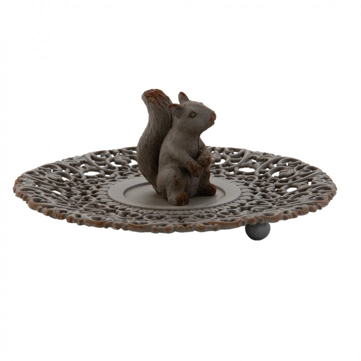 Schmuckteller Eichhörnchen braun ca. Ø 13 x 5 cm