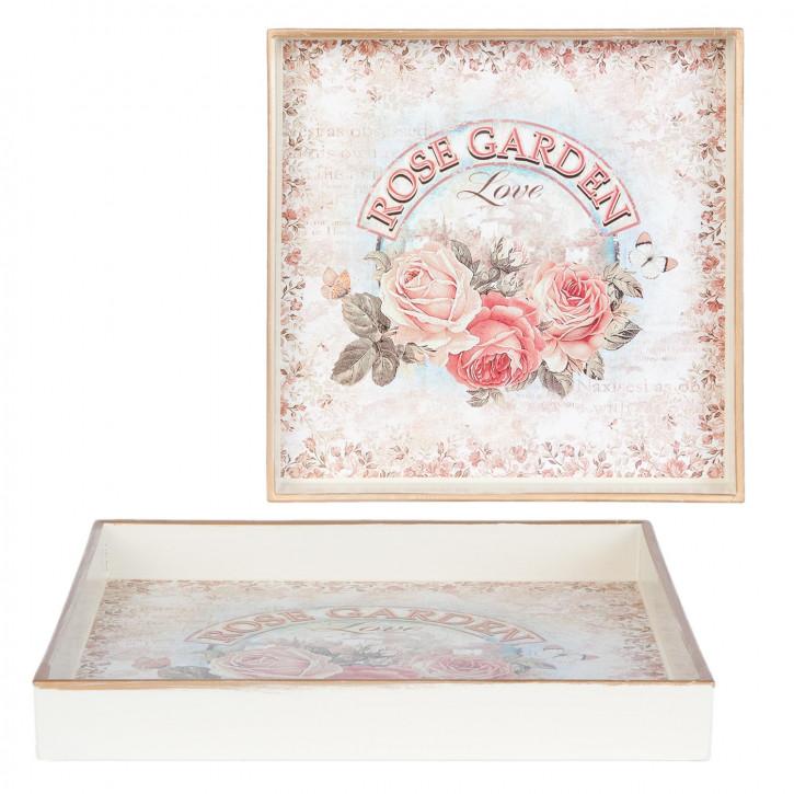Serviertablett ROSE GARDEN Love ca. 20 x 20 x 2 cm