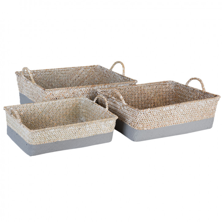 Basket (3) 36x29x11/32x25x10/28x22x9 cm