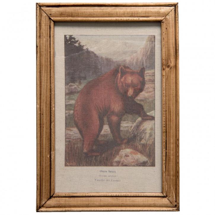 """Bild """"Bär"""" 25x2x35 cm"""