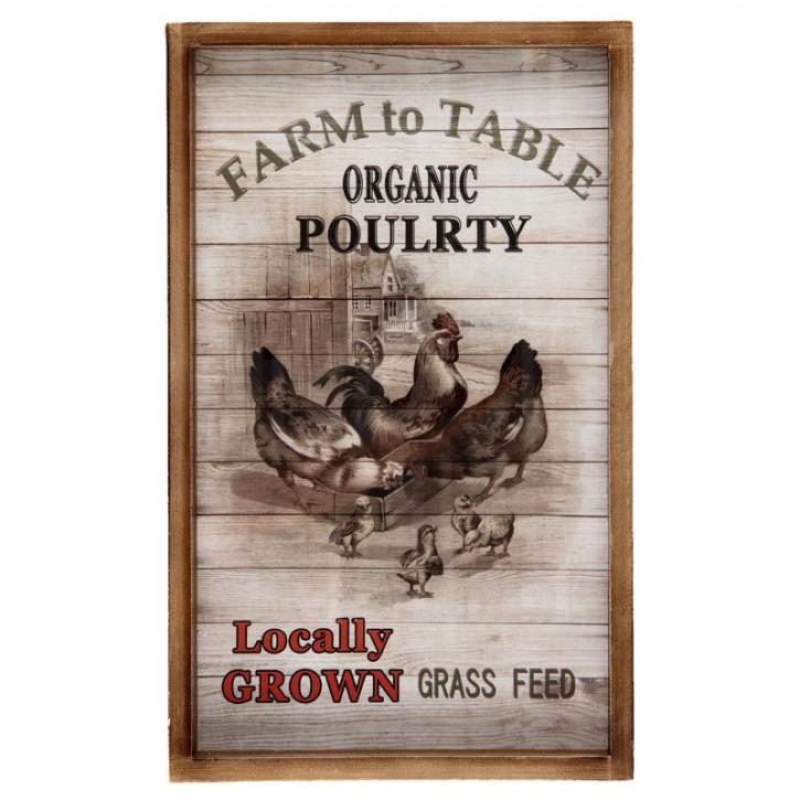 "Bild Wandbild ""Poultry"" 32x3x47 cm"