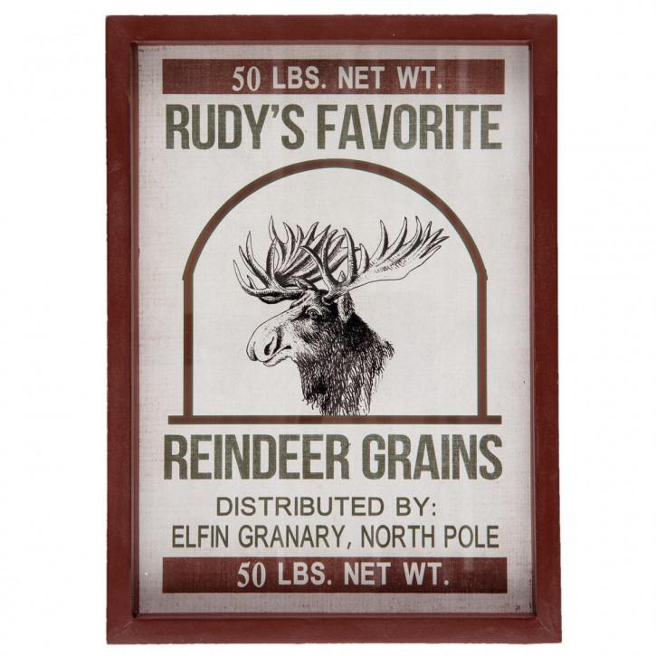 "Bild Wandbild ""Rudys Favorite"" 27x3x37 cm"