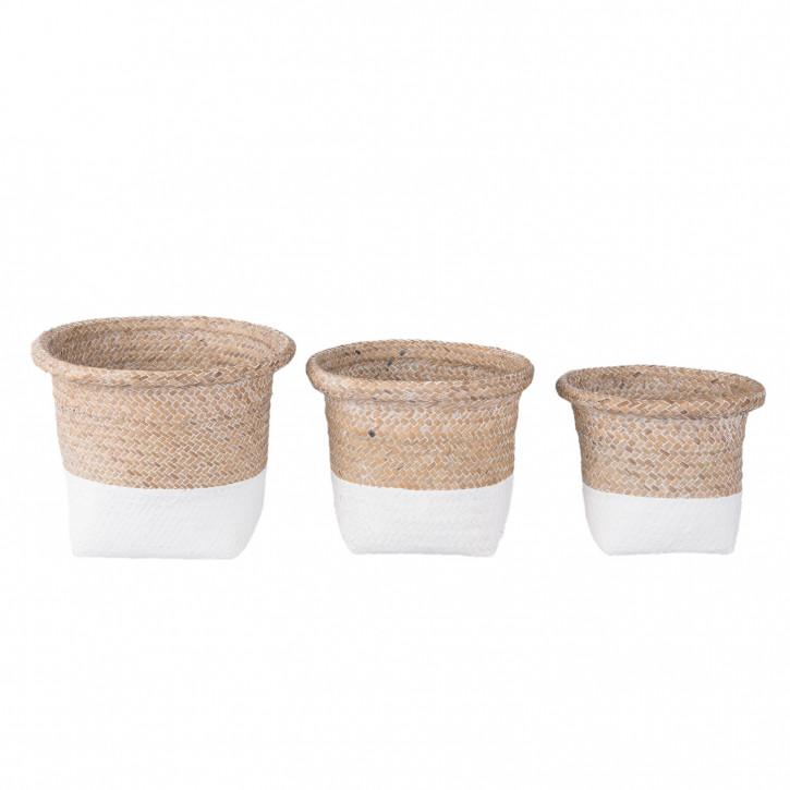 Basket set (3) Ø 23x20/20x18/17x15 cm