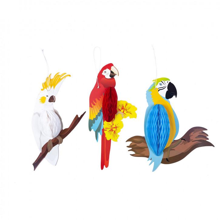 Dekoration hänger Papagei 24x9 cm