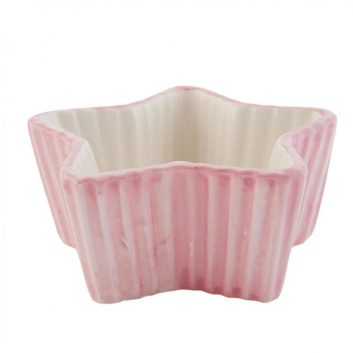Schale sternförmig rosa ca. 12 x 10 x 5 cm