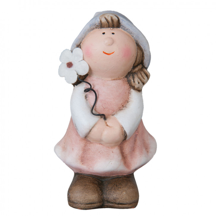 Porzellanfigur Mädchen 6x5x10 cm