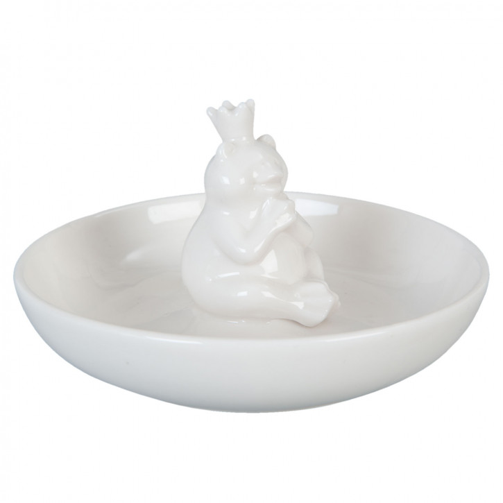 Porzellanfigur Froschkönig Ø 12x6 cm