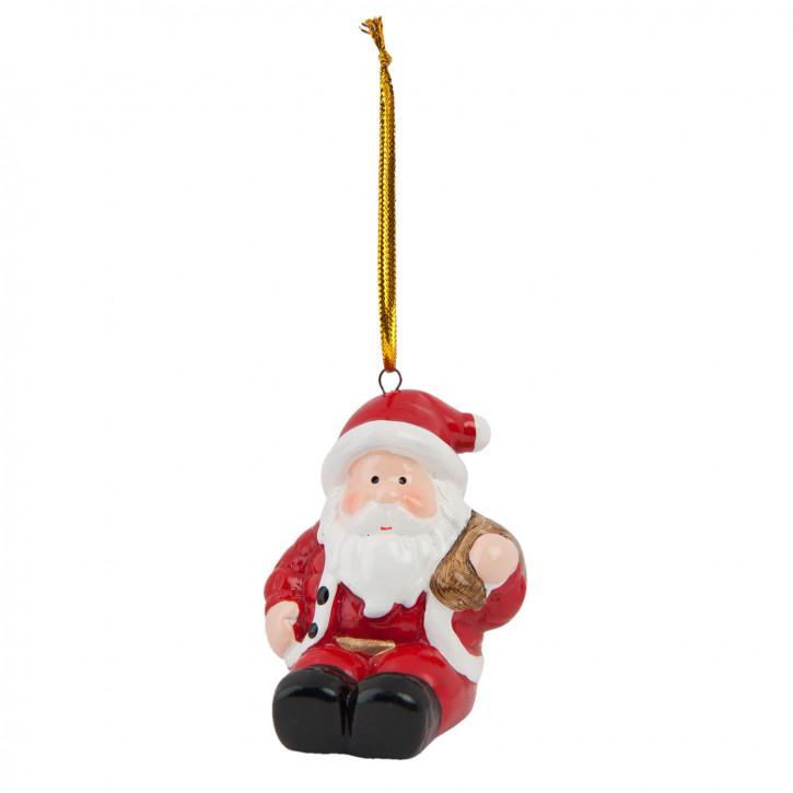 Hängedekoration Santa 6x5x6 cm