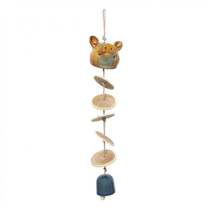 Windspiel Schwein 10x12x40/52 cm