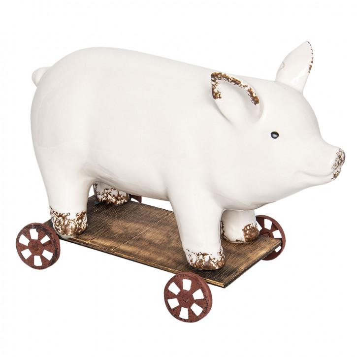 Dekoration Schwein» 26x11x17 cm