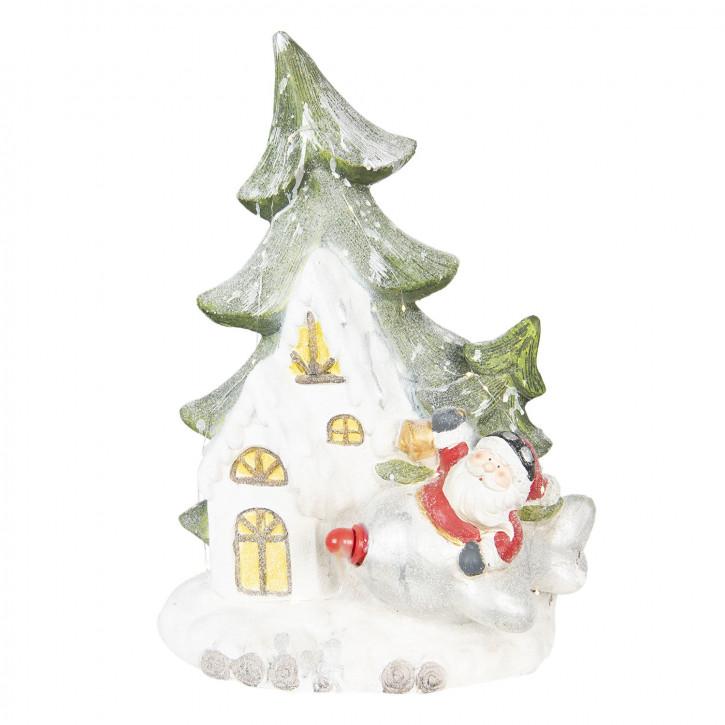 Weihnachtsmann am Baum 49x20x55 cm