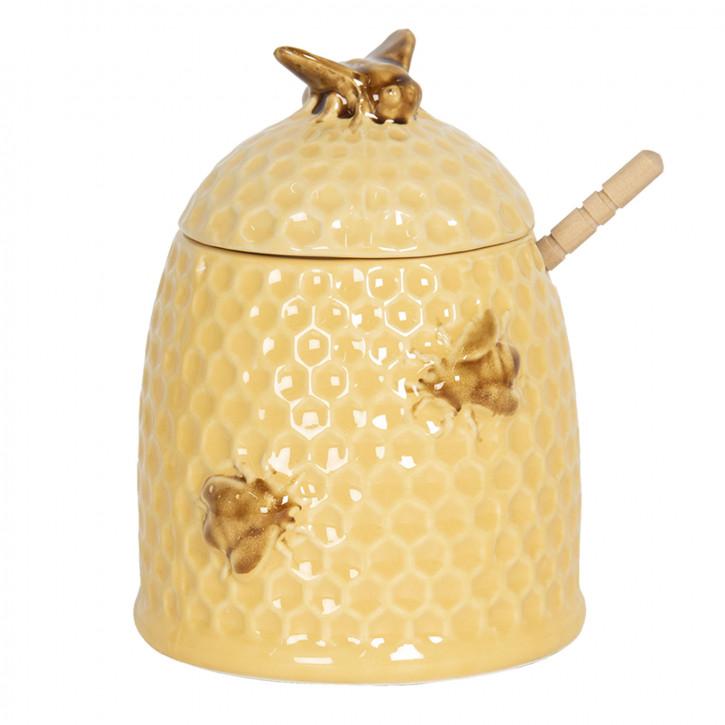 Honigtopf mit Löffel Ø 11x14 cm