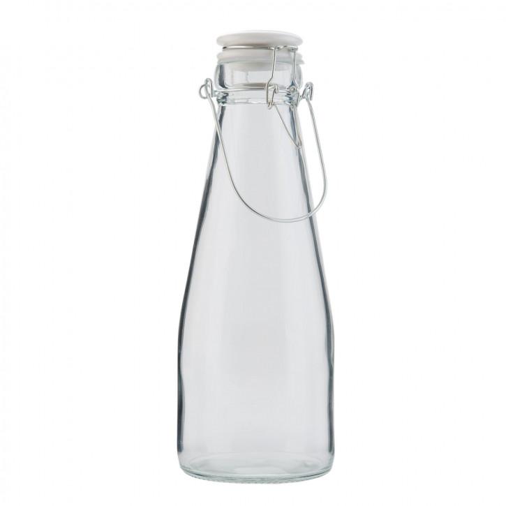 Glasflasche mit Schnappverschluss groß transparent ca. Ø 10 x 26 cm