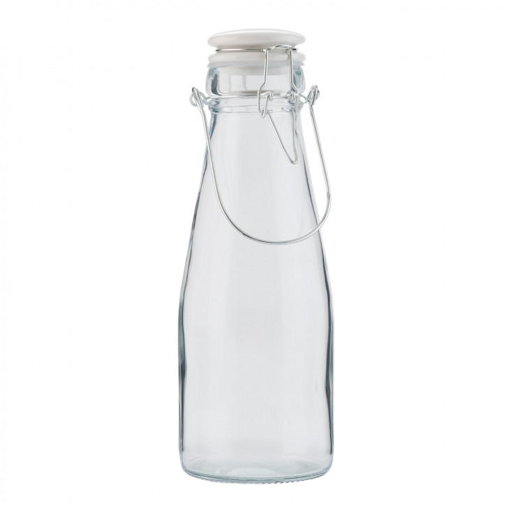 Glasflasche mit Schnappverschluss mittel transparent ca. Ø 10 x 21 cm