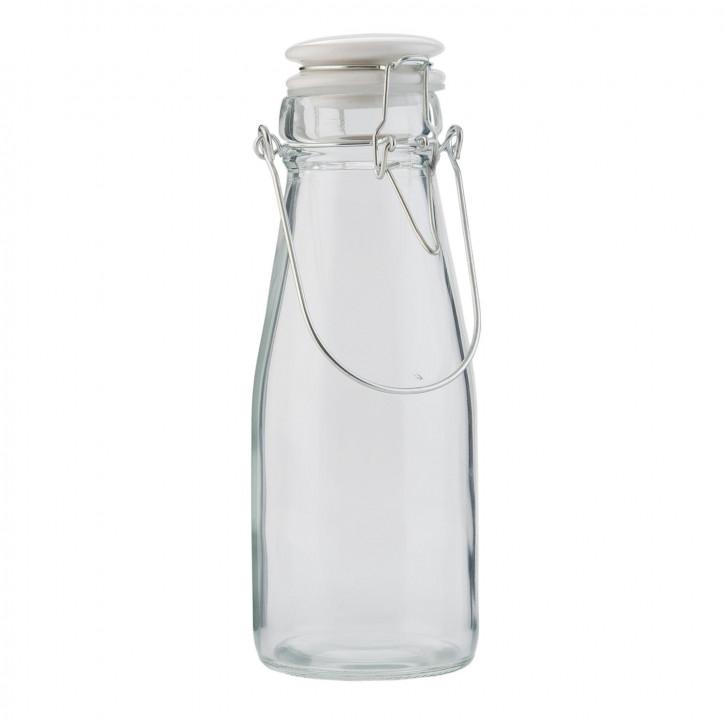 Glasflasche mit Schnappverschluss klein transparent ca. Ø 7 x 21 cm