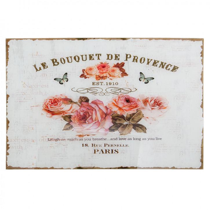 Textschild Schild LE BOUQUET DE PROVENCE ca. 60 x 1 x 40 cm