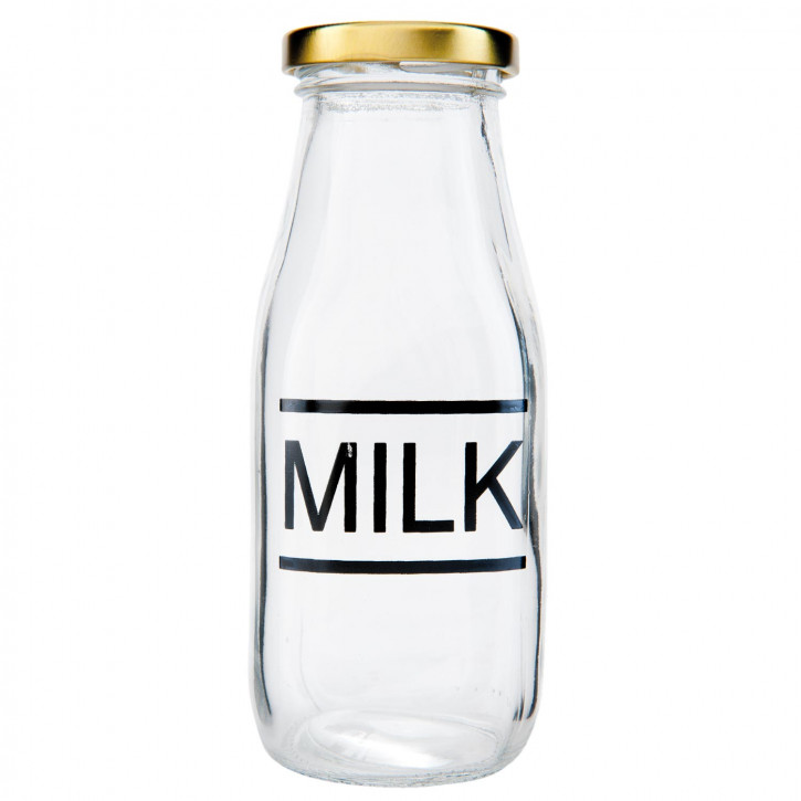Flasche Milchflasche transparent ca. Ø 6 x 15 cm