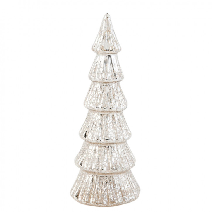 Tannenbaum groß silberfarbig Glas ca. Ø 10 x 26 cm