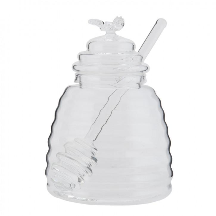 Honigglas mit Löffel Ø 9x13 cm / 0,43 L
