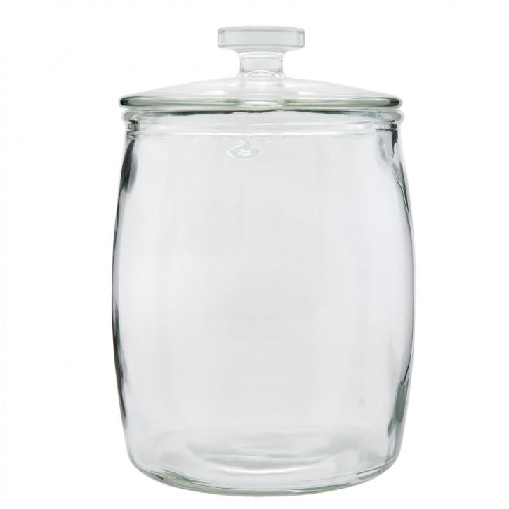Vorratsglas Topf mittel mit Deckel transparent ca. Ø 18 x 26 cm