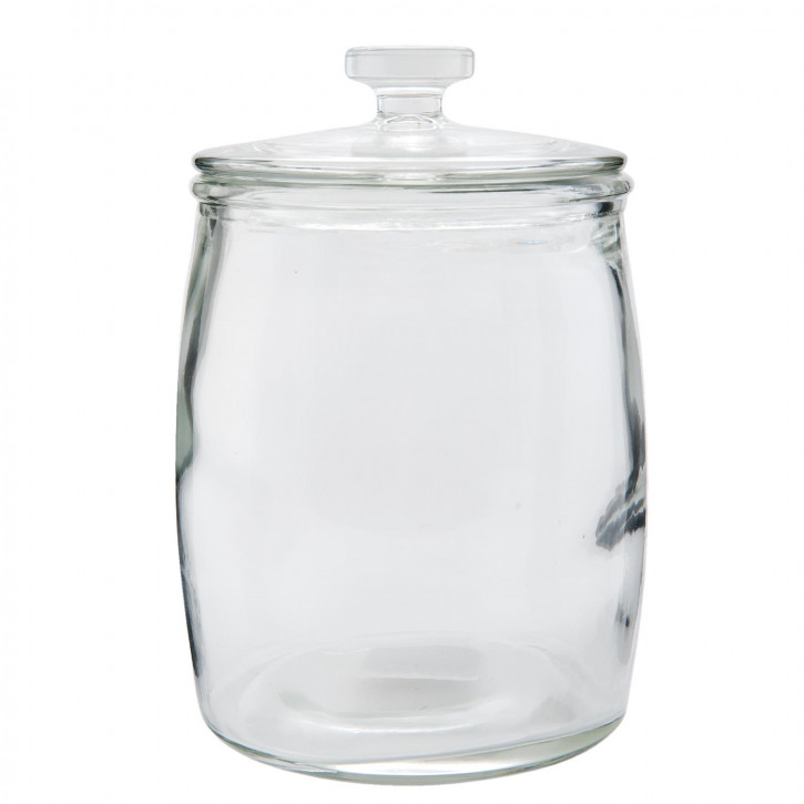Vorratsglas Topf klein mit Deckel transparent ca. Ø 15 x 21 cm