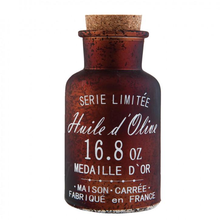 Flasche mit Korken braun ca. Ø 6 x 14 cm