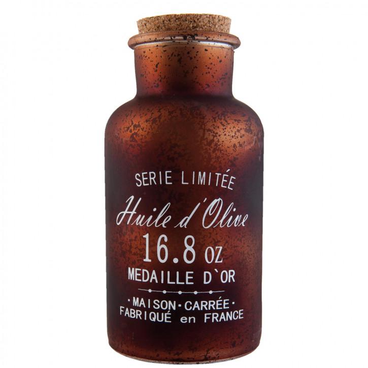 Flasche mit Korken braun ca. Ø 8 x 17 cm