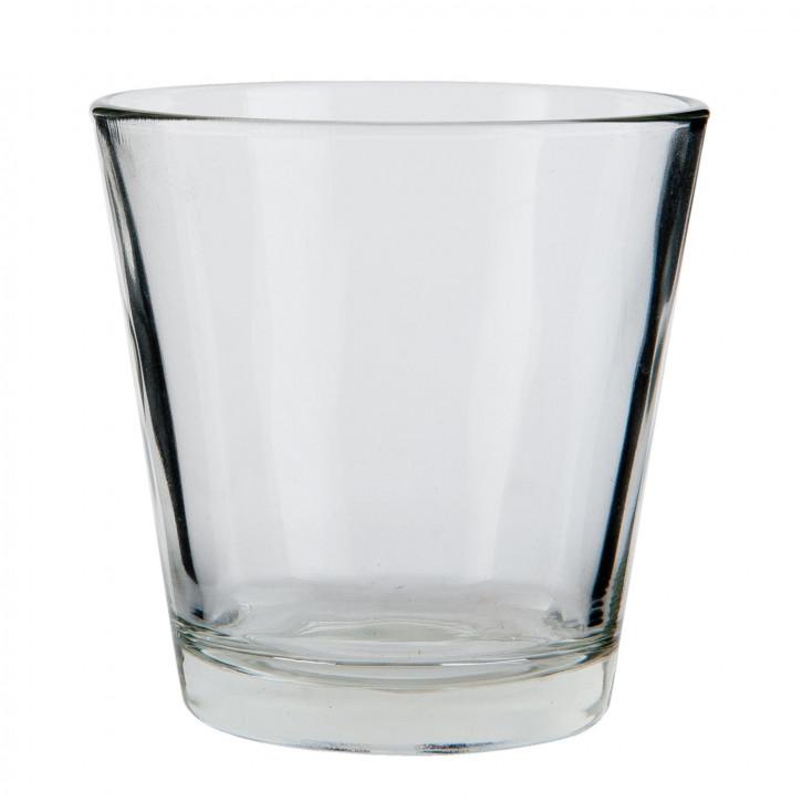 Windlicht transparent ca. Ø 6 x 6 cm