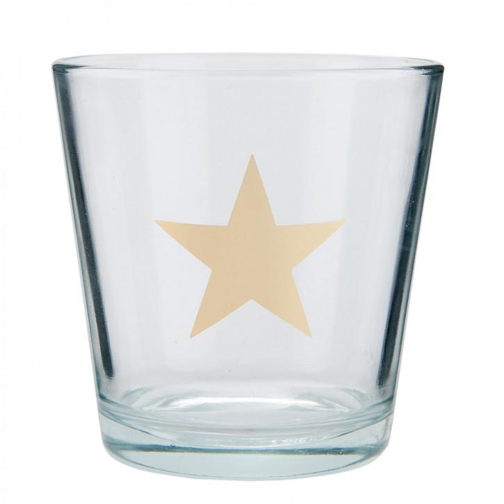 Windlicht transparent Stern ca. Ø 10 x 10 cm