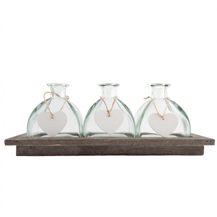 Bottle holder with 3 bottles 33x14x13 cm