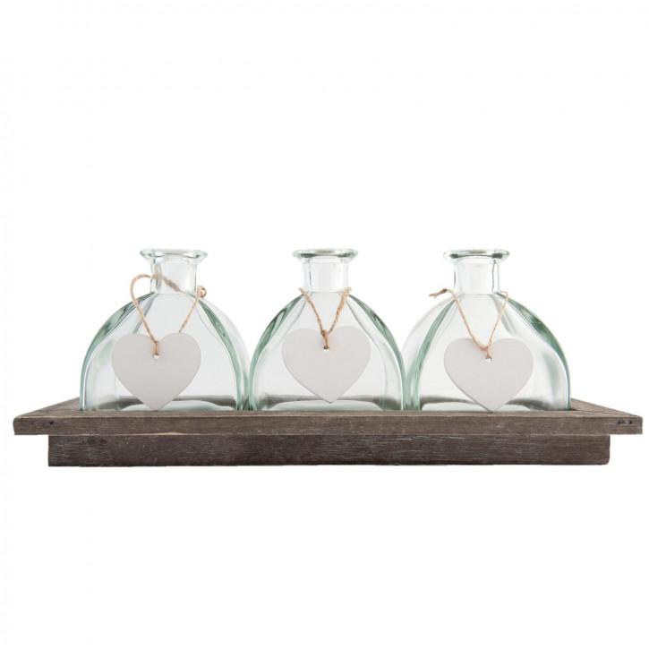 Bottle holder with 3 bottles 33x14x13 cm