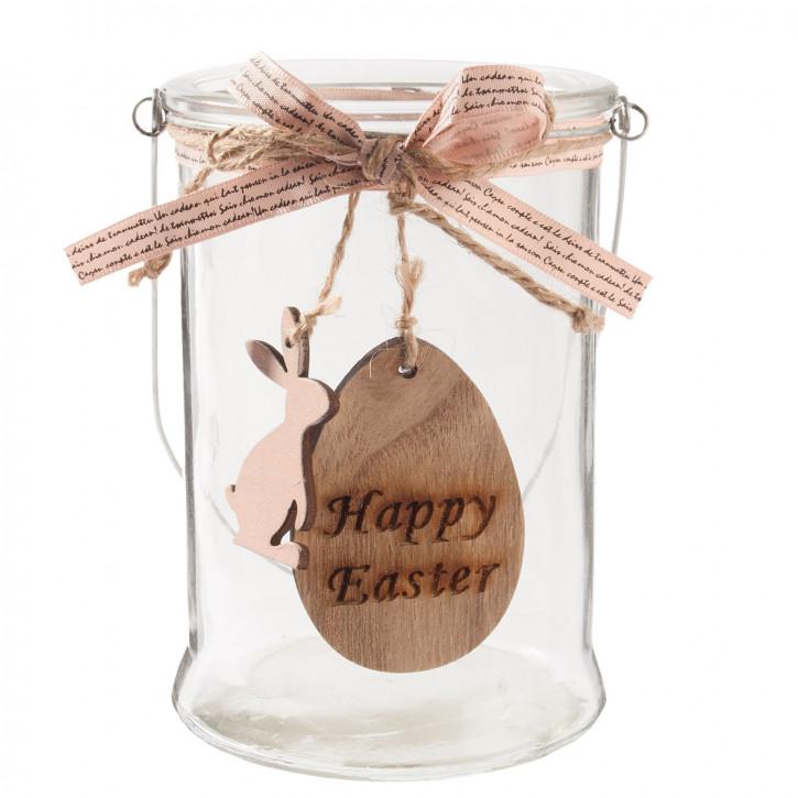 "Teelicht Halter ""Happy Easter"" Ø 10x14 cm"