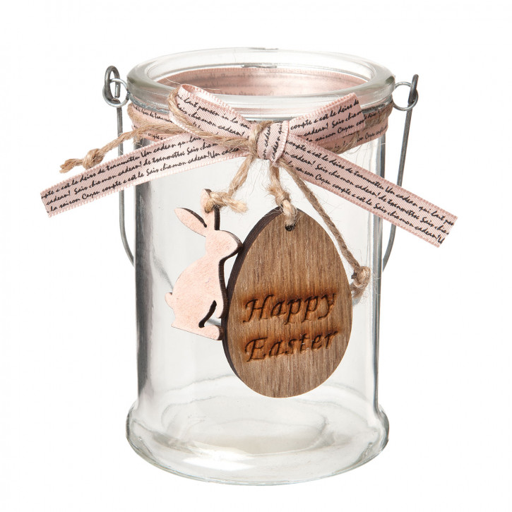 "Teelicht Halter ""Happy Easter"" Ø 8x11 cm"