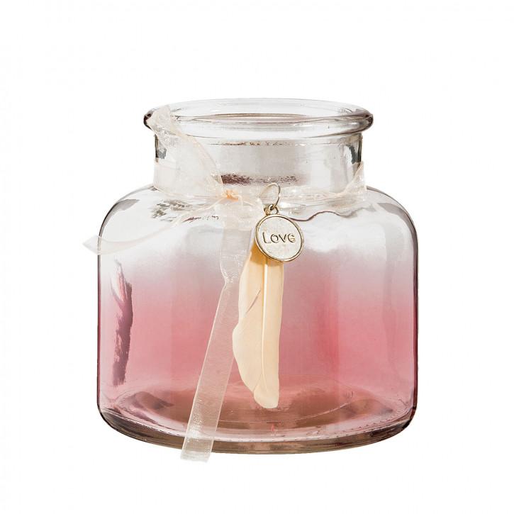 Teelichthalter in Rosa Ø 12x12 cm