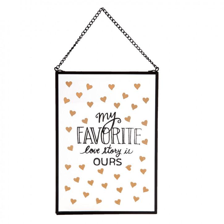 """Wandbild """"My Favorite Lovestory Is Ours"""" 13x18 cm"""