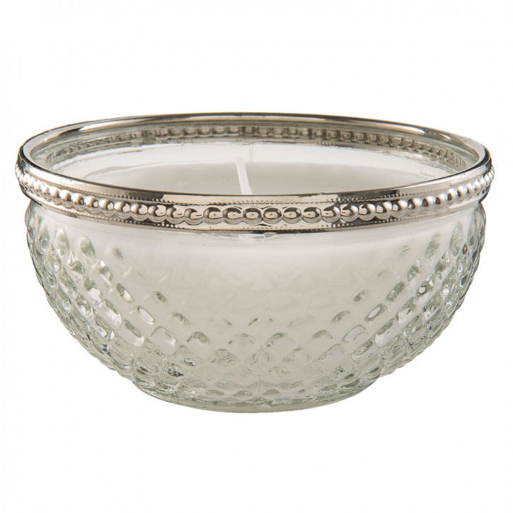 Kerze Teelicht Teelicht Glas in silber Ø 11x6 cm