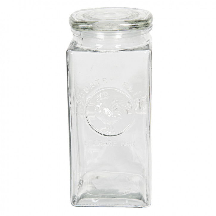 Vorratsglas mit Deckel 10x10x23 cm / 1,7L