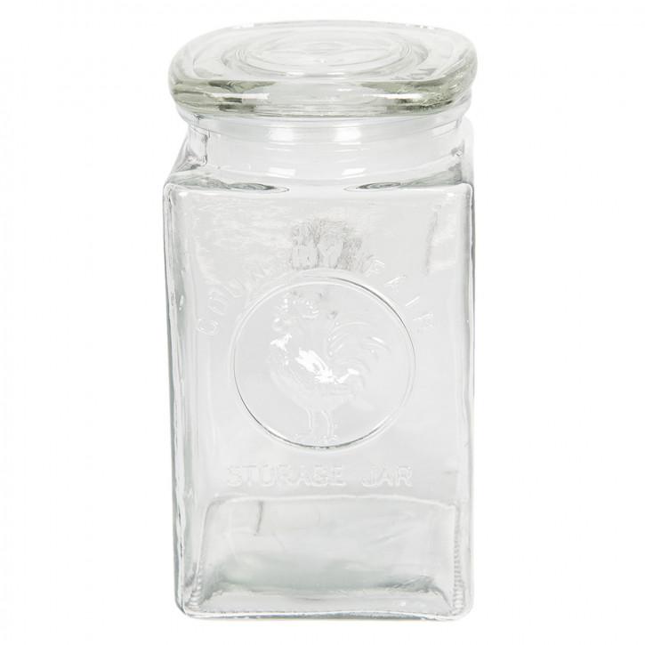 Vorratsglas mit Deckel 10x10x19 cm / 1,25L